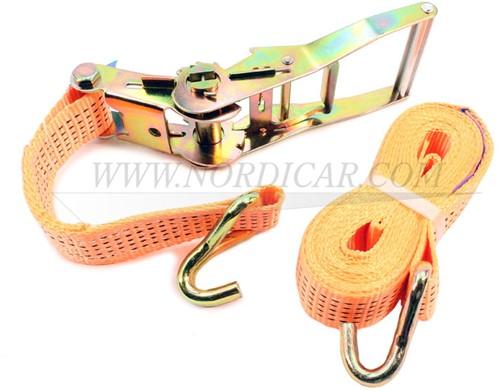 Spanband met ratel: 5 mtr 3000 kg